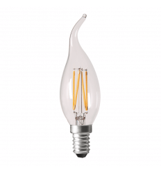 LED-Glühbirne E14 4W Design Flamme - Warmweiß