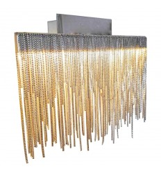 Dekorativen LED Wandleuchte Nickel Satin - Phoenix