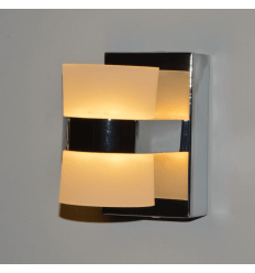 Applique murale contemporaine LED verre et chrome - Elements