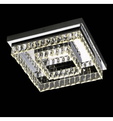 Plafonnier cristal moderne carré LED - Million 42 cm