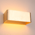 Applique murale feuille d'or LED - Quadra 20 cm